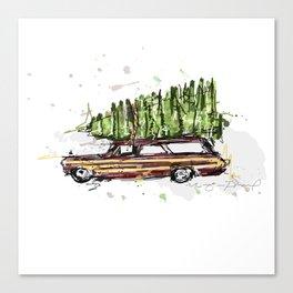 Perfect Christmas Tree Canvas Print