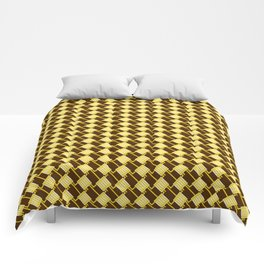 The Gold Squares Comforters