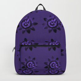 passion flower in violet Backpack