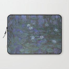 Blue Water Lilies Laptop Sleeve
