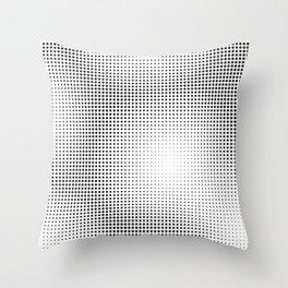 Full Configuration Black Raster - Optical game 13 Throw Pillow