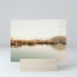 Autumn Lake Scene Mini Art Print