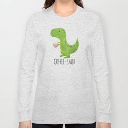 Coffee-saur Long Sleeve T-shirt