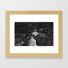 Monochrome River Framed Art Print