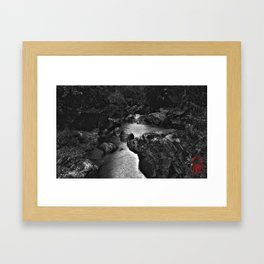 Monochrome River Framed Art Print