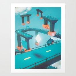 Bridge Over Untroubled Skies - 01 Art Print