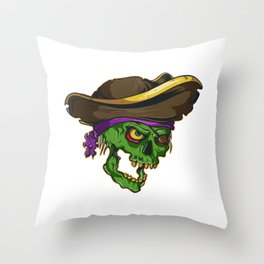 Art of a bloodthirsty pirate Throw Pillow