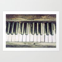 piano Art Prints featuring piano by hilde.