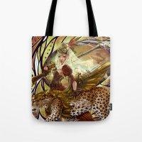 safari Tote Bags featuring Safari by Bea González