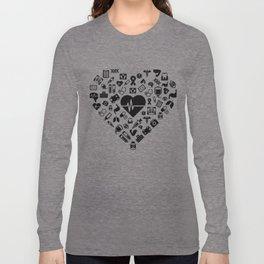 I Love First Aid | Doctor Nurse Heart Hospital Long Sleeve T-shirt