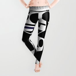 Black and white  composition Leggings
