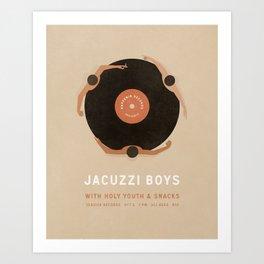 Jacuzzi Boys at Seasick Records Art Print