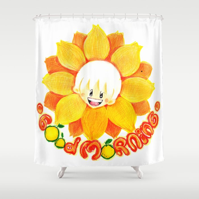 good morning sunflower boy Shower Curtain by adystuta | Society6