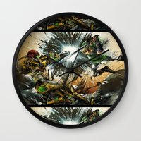 castlevania Wall Clocks featuring The Battlefield by Fresh Doodle - JP Valderrama