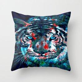 Artistic Tiger Throw Pillow