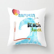 Summer at the Beach House Throw Pillow