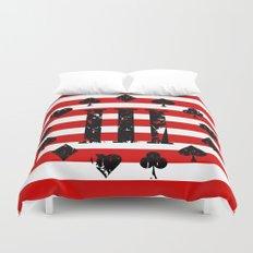 Three Percenter Aces USA Flag Duvet Cover