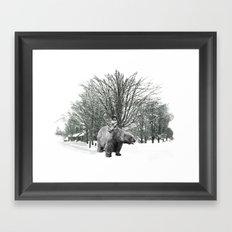 Little Billy's Polar Playtime Framed Art Print