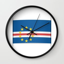 Flag of Cape Verde, officially the Republic of Cabo Verde. The slit in the paper with shadows. Wall Clock