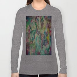 Watercolor Explosion Painting Long Sleeve T-shirt