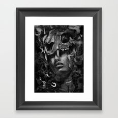 Empress Lion Skull Framed Art Print