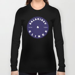 Balakirev & Glinka 1: White on Blue Long Sleeve T-shirt
