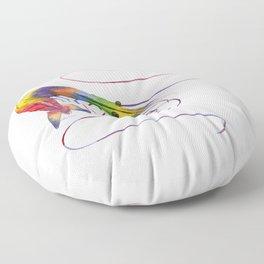 Colorful Shrimp Floor Pillow