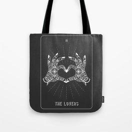 Minimal Tarot Deck The Lovers Tote Bag