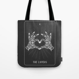 Minimal Tarot Deck The Lovers Tote Bag