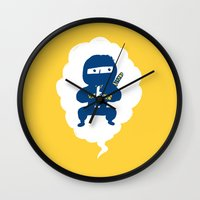 ninja Wall Clocks featuring Ninja by taichi_k