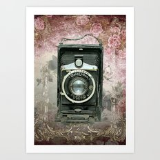 Lady Photographer Art Print