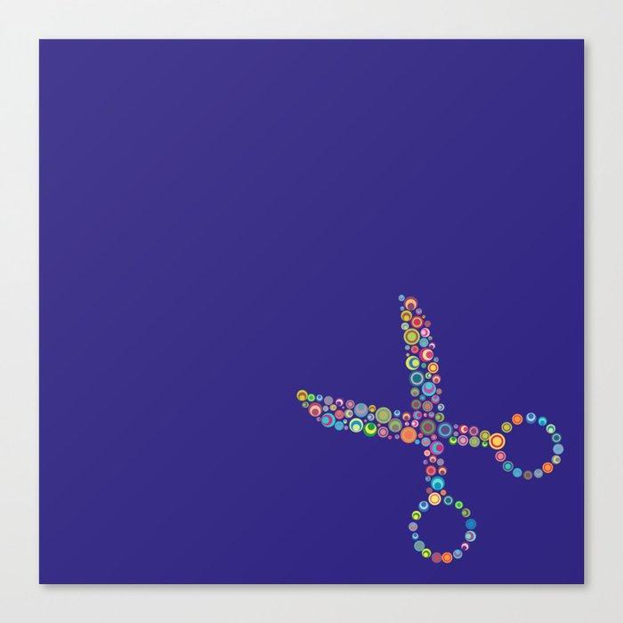 scissors / tijeras Canvas Print