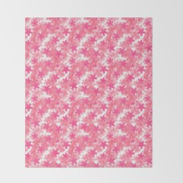 phlox spring april may pink Throw Blanket