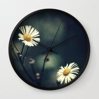 daisy Wall Clocks featuring Daisy by Pascal Deckarm Fine Art