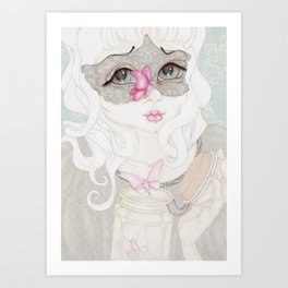 Mysterious Lady Butterfly Art Print