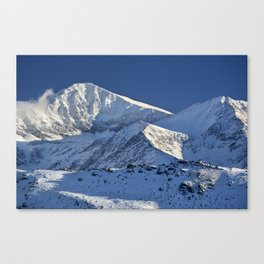 Snowy mountains. 3.478 meters Canvas Print
