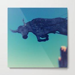 The flying bull Metal Print