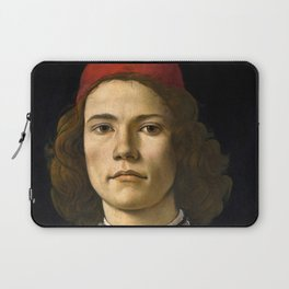 """Sandro Botticelli """"Portrait of a Young Man"""" (II) Laptop Sleeve"""