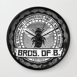 Bros. of B. Dark Wall Clock