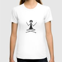 yoga T-shirts featuring Yoga by flapper doodle