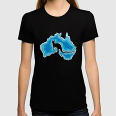 Australia SMALL Black Womens Fitted Tee