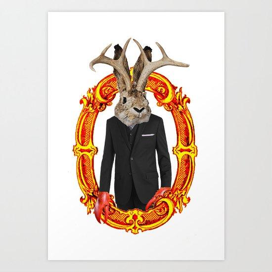 Jackalope Evolved Art Print