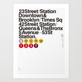 Nº5. Helvetica Posters by empatía® Art Print