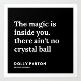 22     191120   Dolly Parton Quotes Art Print
