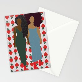 Strawberry Bawse Babes- Purple Stationery Cards