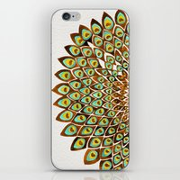 70s iPhone & iPod Skins featuring Peacock Mandala – 70s Palette by Cat Coquillette