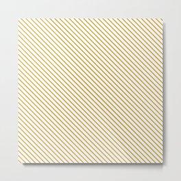 Spicy Mustard Stripe Metal Print