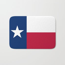 State flag of Texas, official banner orientation Bath Mat