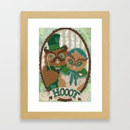Mr. and Mrs. Owl Framed Art Print