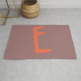 The Letter E Brush Typography Rug